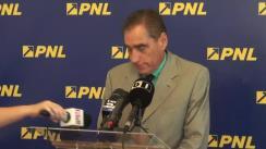 Conferință de presă susținută de senatorul PNL, Petre Roman