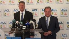 Conferință de presă susținută de Klaus Iohannis și Vasile Blaga după ședința Consiliului de Conducere al Alianței Creștin-Liberale din 6 august 2014