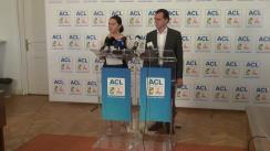 Conferință de presă susținută de purtătorul de cuvânt al PDL, Adriana Săftoiu, și vicepreședintele PNL, Ludovic Orban