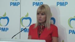 Conferință de presă susținută de Elena Udrea, președinte al Partidului Mișcarea Populară