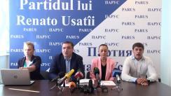 Conferință de presă privind rezultatele congresului Partidului lui Renato Usatîi și înregistrarea lui la Ministerul Justiției