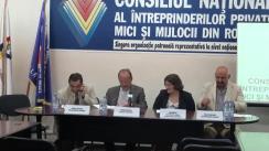 Conferință de presă organizată de Consiliul Național al Întreprinderilor Private Mici și Mijlocii din România