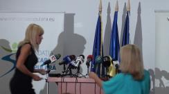 Conferință de presă susținută de președintele PMP, Elena Udrea, și președintele FMP, Cristian Diaconescu