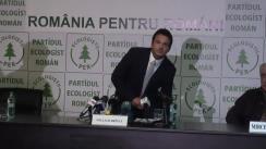 Conferință de presă organizată de Partidul Ecologist Român privind anunțarea candidatului partidului la alegerile prezidențiale