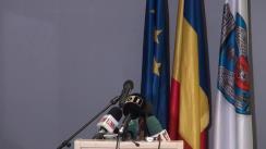Conferință de presă susținută de primarul municipiului București, Sorin Oprescu