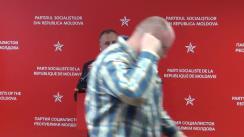 Conferință de presă susținută de liderul Partidului Socialiștilor din Republica Moldova, Igor Dodon