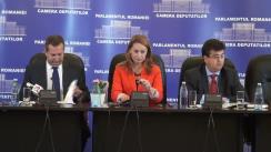 Conferință de presă susținută de deputații George Scutaru, Cristina Pocora, Theodor Nicolescu și Tinel Gheorghe