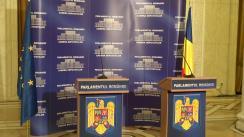 Conferință de presă susținută de președintele Camerei Deputaților, Valeriu Zgonea, și președintele APCE, Anne Brasseur