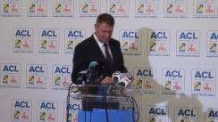 Conferință de presă susținută de președintele PNL, Klaus Iohannis