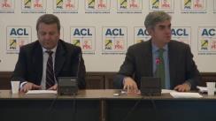 """Conferință de presă susținută de deputații PNL și PDL privind depunerea moțiunii simple cu titlul """"Ministerul MTO – Minciună, Taxare, Oprirea economiei"""""""