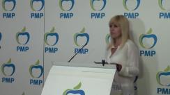 Conferință de presă susținută de președintele PMP, Elena Udrea