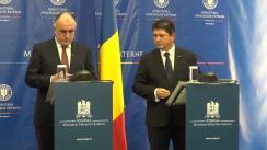 Conferință de presă susținută de Titus Corlățean și Elmar Mammadyarov, ministrul Afacerilor Externe al Republicii Azerbaidjan