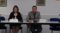 Conferință de presă susținută de Raluca Mitu privind primul apel de propuneri de proiecte pentru infrastructura de transport