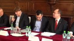 """Dezbaterea organizată de Fundația Universitară a Mării Negre cu tema """"Ucraina: al doilea conflict înghețat la frontierele României"""""""