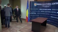 Depunerea dosarului de înregistrare a candidaturii președintelui PLR, Călin Popescu-Tăriceanu, pentru funcția de Președinte al României