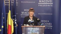 Conferință de presă susținută de candidatul independent pentru funcția de președinte al României, Monica Macovei