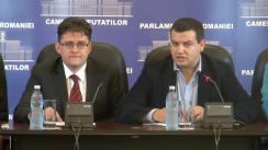 Conferință de presă susținută de deputații neafiliați Aurelian Mihai și Eugen Tomac privind situația gravă a comunității românilor/vlahilor din Timoc în contextul implicării partidelor politice sârbești în alegerile pentru Consiliile Naționale ale Minorităților
