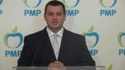 Conferință de presă susținută de vicepreședintele Partidului Mișcarea Populară, Eugen Tomac