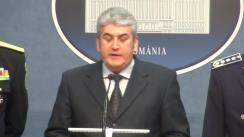 Briefing susținut de ministrul Afacerilor Interne, Gabriel Oprea, privind măsurile de ordine și siguranță publică luate pentru organizarea în bune condiții a meciului de fotbal România-Ungaria