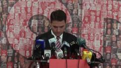 Conferință de presă susținută de purtătorul de cuvânt al PSD, Dan Șova