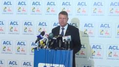 Briefing susținut de președintele PNL, Klaus Iohannis