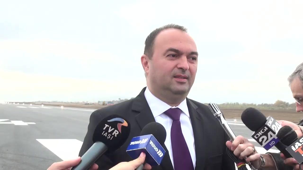 Declarațiile președintelui Consiliului Județean Iași, Cristian Adomniței și directorului CA al Aeroportului Internațional Iași, Marius Bodea