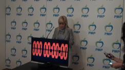 Conferință de presă susținută de președintele Partidului Mișcarea Populară, Elena Udrea