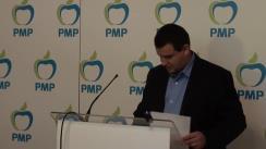 Conferință de presă susținută de vicepreședintele PMP, Eugen Tomac