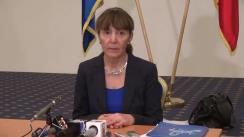 Conferință de presă susținută de candidatul independent pentru funcția de președinte al României, Monica Macovei, la Iași