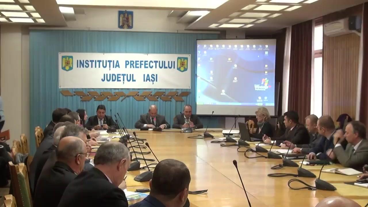 Ședința Colegiului Prefectural Iași din 23 octombrie 2014