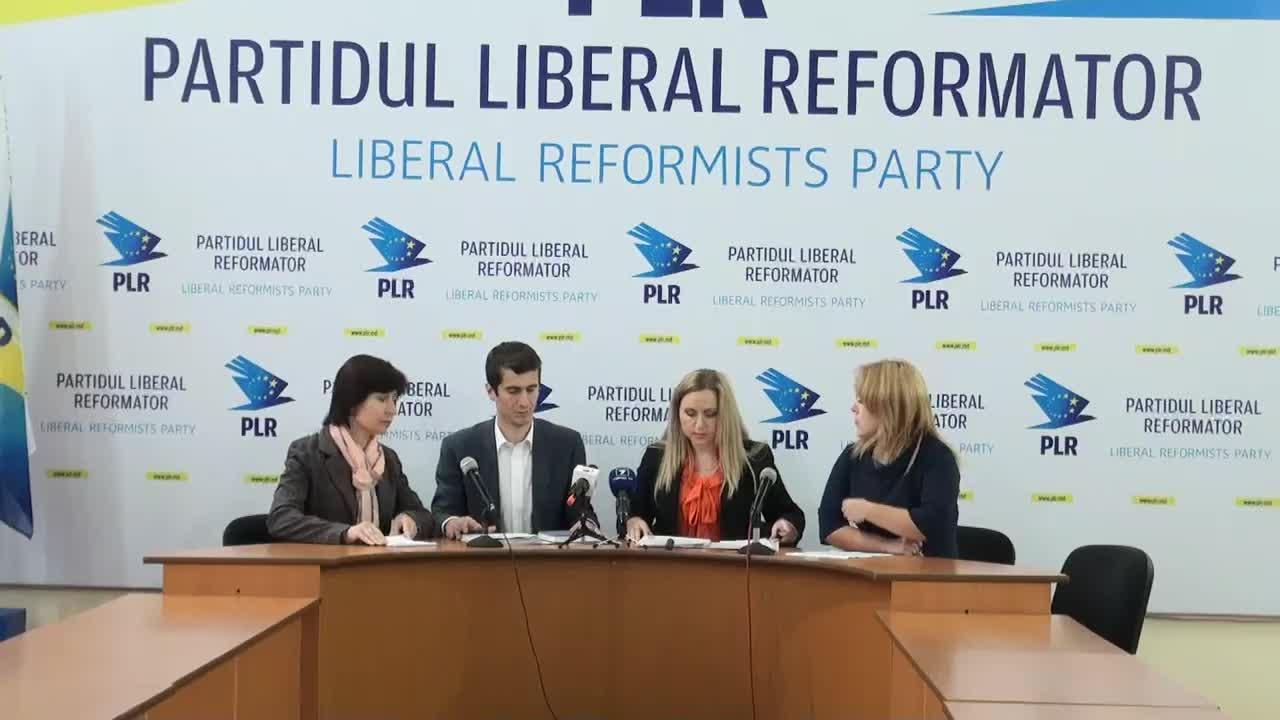 """Conferință de presă organizată de Partidul Liberal Reformator cu tema """"PLR condamnă inacțiunea organelor de drept în cazurile BEM și Aeroport"""""""