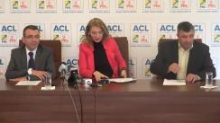 Conferință de presă susținută de vicepreședinții PNL Alina Gorghiu, Mihai Voicu și Costel Caraș