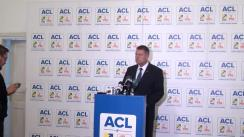 Conferință de presă susținută de candidatul ACL la Președinția României, Klaus Iohannis