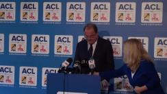 Conferință de presă susținută de copreședintele ACL, Vasile Blaga