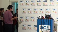 Conferință de presă susținută de candidatul Alianței Creștin-Liberale la Președinția României, Klaus Iohannis, după anunțarea rezultatelor exit-poll