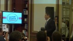 Conferință de presă susținută de candidatul Alianței PSD-UNPR-PC la Președinția României, Victor Ponta, după anunțarea rezultatelor exit-poll