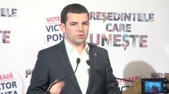 Declarație de presă susținută de președintele Partidului Conservator, Daniel Constantin, după anunțarea rezultatelor exit-poll