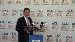 Conferință de presă susținută de vicepreședintele PNL, Ludovic Orban