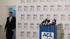 Conferință de presă susținută de candidatul Alianței Creștin-Liberale la Președinția României, Klaus Iohannis