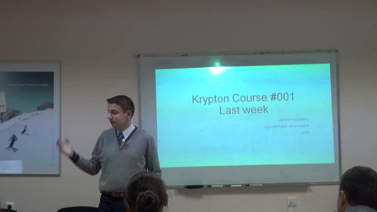 Krypton Course #001, Training 4
