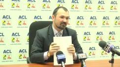 Conferință de presă susținută de Marius Dangă, președintele organizației municipale a PNL Iași