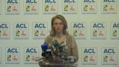 Declarația de presă a purtătorului de cuvânt al PNL, Alina Gorghiu, cu privire la afirmațiile atribuite fostului președinte al partidului, Crin Antonescu