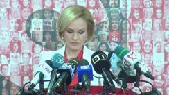 Briefing susținut de purtătorul de cuvânt al PSD, Gabriela Firea