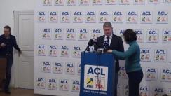 Conferință de presă susținută de prim-vicepreședintele ACL, Cătălin Predoiu