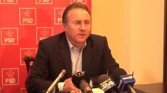 Conferință de presă susținută de președintele filialei PSD Iași, Gheorghe Nichita