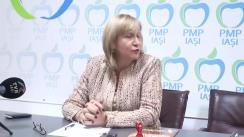 Conferință de presă susținută de deputatul PMP, Camelia Bogdănici