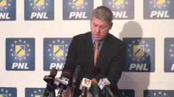 Conferință de presă susținută de prim-vicepreședintele PNL, Cătălin Predoiu