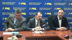 Conferință de presă susținută de președintele filialei municipale PNL Iași, Marius Dangă