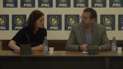 Conferință de presă susținută de deputații PNL, Theodor Nicolescu și Valeria Schelean, privind sesizarea la Curtea Constituțională a Ordonanței de Urgență a Guvernului 55/2014 pentru reglementarea unor măsuri privind administrația publică locală