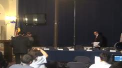 Conferință de presă privind destructurarea a trei grupuri transfrontaliere de crimă organizată specializate în comiterea de fraude informatice pe site-urile de comerț electronic